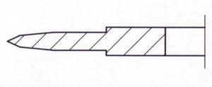 Kreismesser abgesetzt doppelte Wate