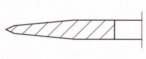 Kreismesser doppelte Wate und Vorwate