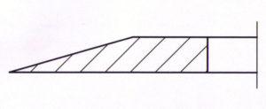 Kreismesser einseitige Wate