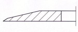 Kreismesser einseitige Wate und Vorwate