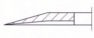 Kreismesser einseitige Wate hohl