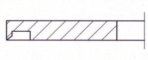 Kreismesser mit Ringnut